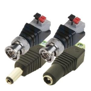 Комплект разъемов для подключения аналоговой / HD-TVI / AHD камеры