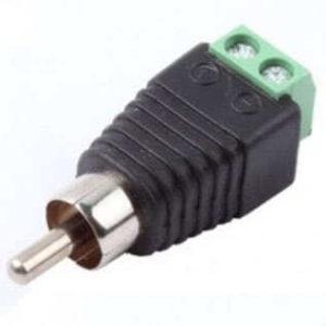 Коннектор RCA, для подключения микрофона, ТВ (штекер с клеммной колодкой)