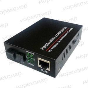 Медиаконвертер оптоволокно-медь 100 Мбит/с, 25 км, SC (A/B) + БП
