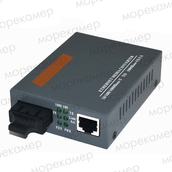 Медиаконвертер оптоволокно-медь 1000 Мбит/с, 20 км, SC (A/B) + БП