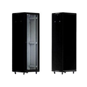 KRAULER KRC6022 шкаф напольный 19″, 22U, 600*1000мм, металл, ножки и ролики, без дверей, чёрный