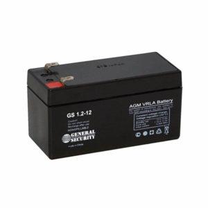 Аккумулятор 12В 1.2Ач (АКБ батарея 1.2А, для ИБП, ИВЭПР) GSL1.2-12
