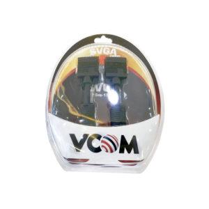 VCOM кабель VGA/SVGA 15m/15m 2 фильтра 1.8м