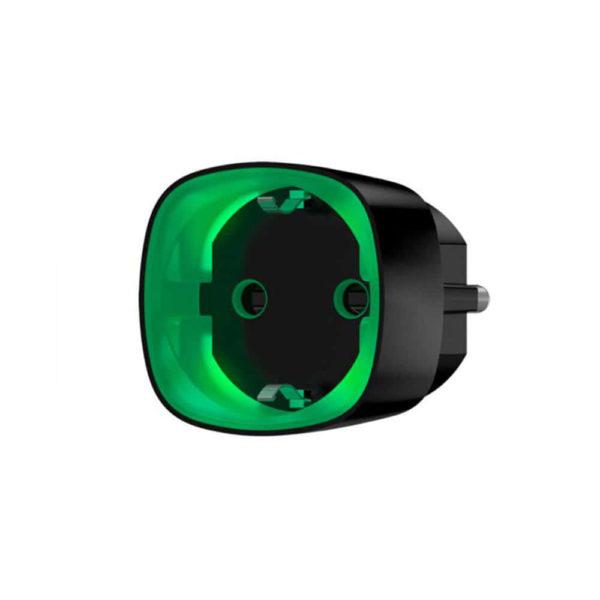 Ajax Socket, радиоуправляемая умная розетка со счетчиком энергопотребления (черная)