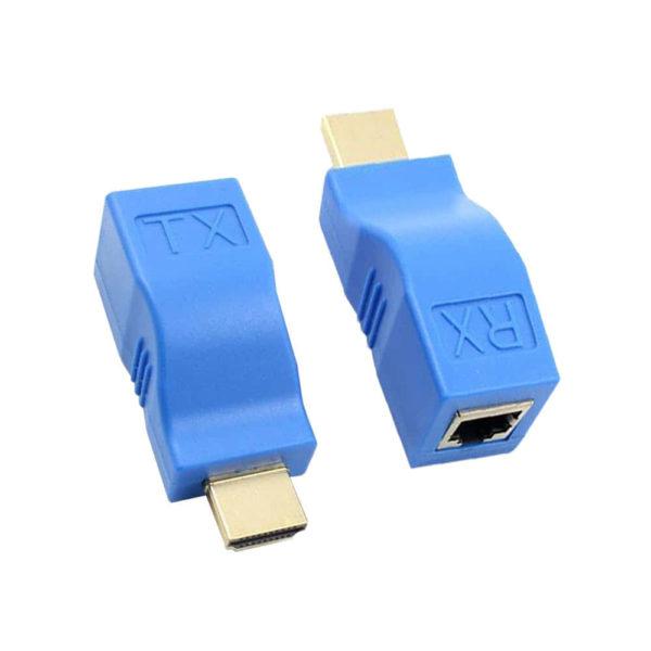 Удлинитель HDMI передатчик TX/RX-RJ-45 Cat 6/6E cable/HDMI, Full HD 1080P