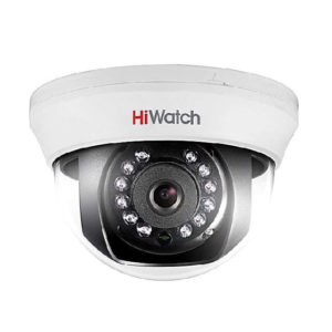 Hiwatch DS-T101 2.8mm, купольная tvi-камера 1мп (cvbs, ик 20м)
