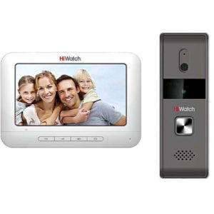 Hiwatch DS-D100K, комплект аналогового видеодомофона (монитор и панель)