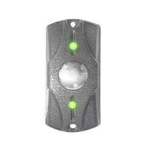 Кнопка выхода накладная анивандальная Циклоп металл, индикация, 40х80х25
